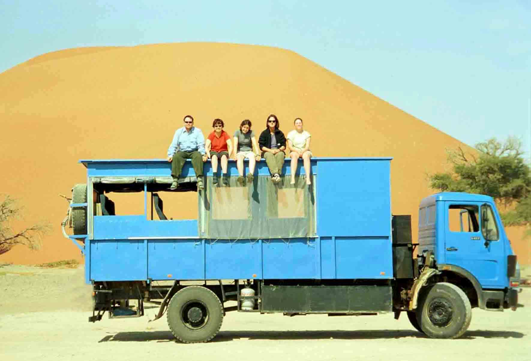 "My first ""overland experience"" in 2002 with Kumuka, the big blue truck from Capetown to Zimbabwe, Africa."