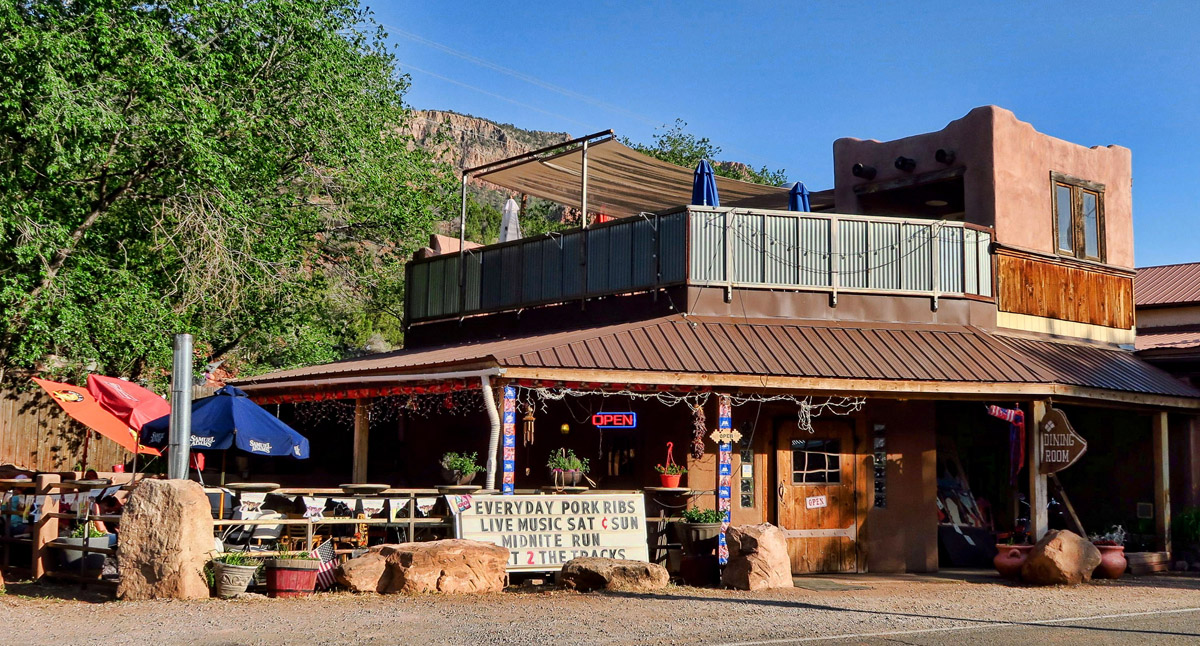 "The tiny ""downtown"" section of Jemez Springs is only about 3 blocks long, but has several restaurants (read wifi opportunities.)"