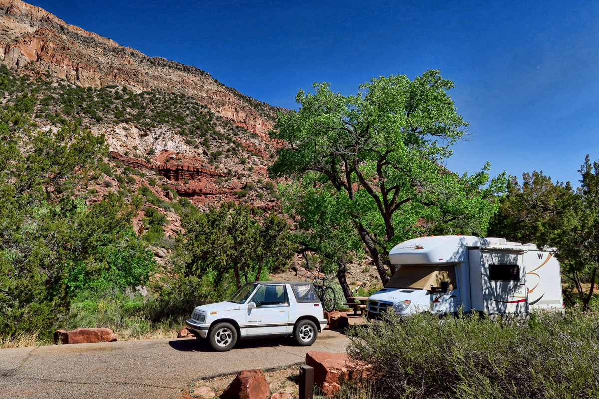My lovely campsite, which i keep extending day upon day.