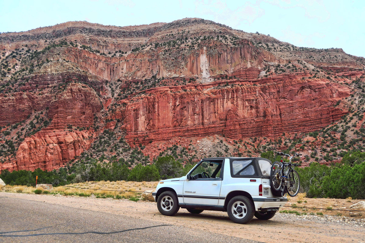 The woman at the Pueblo Visitor Center tells me to take a drive 5 miles down the road. I am stunned to find this beautiful canyon that is not visible from the main road.