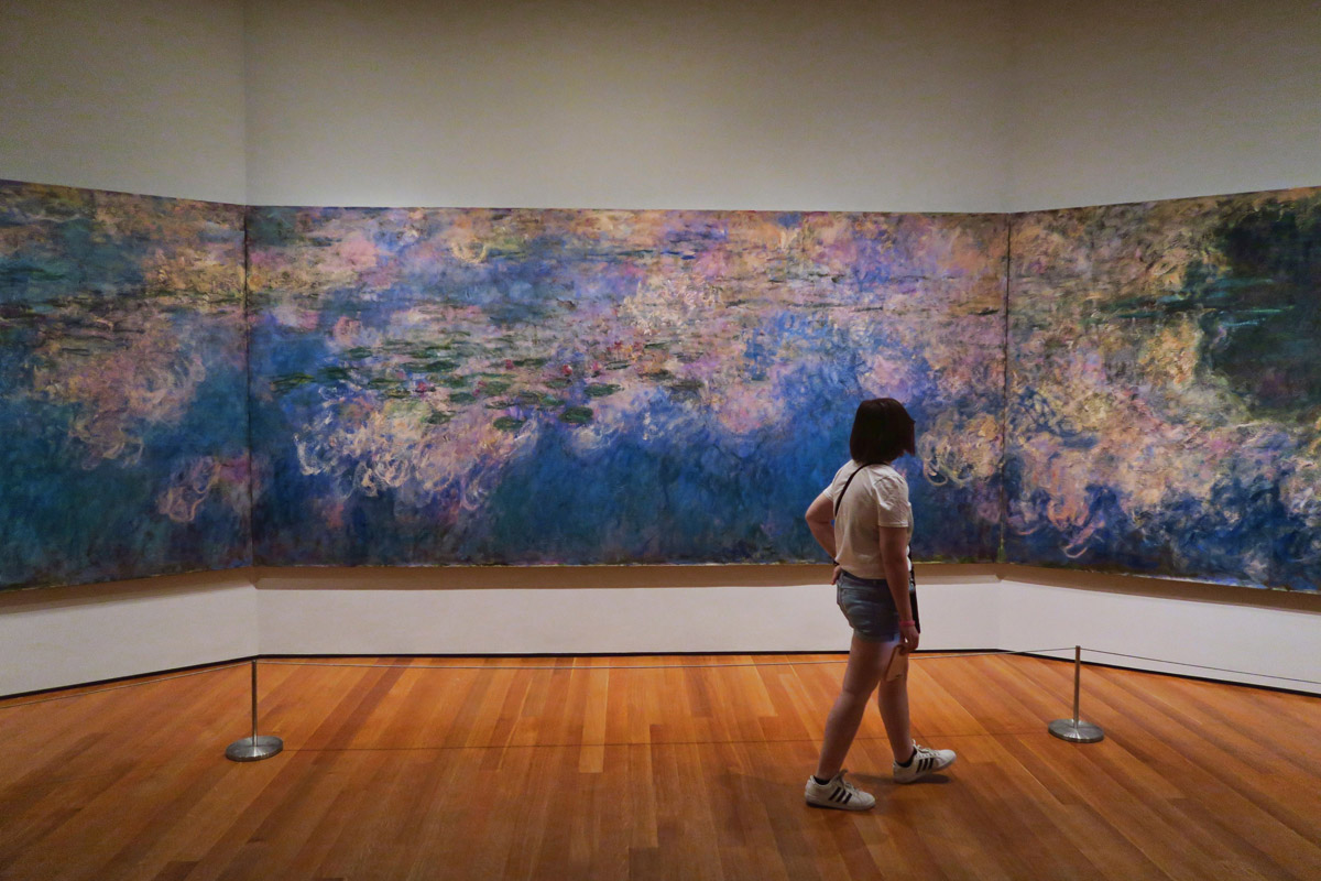 Monet's famous Water Lilies, Modern Museum of Art.