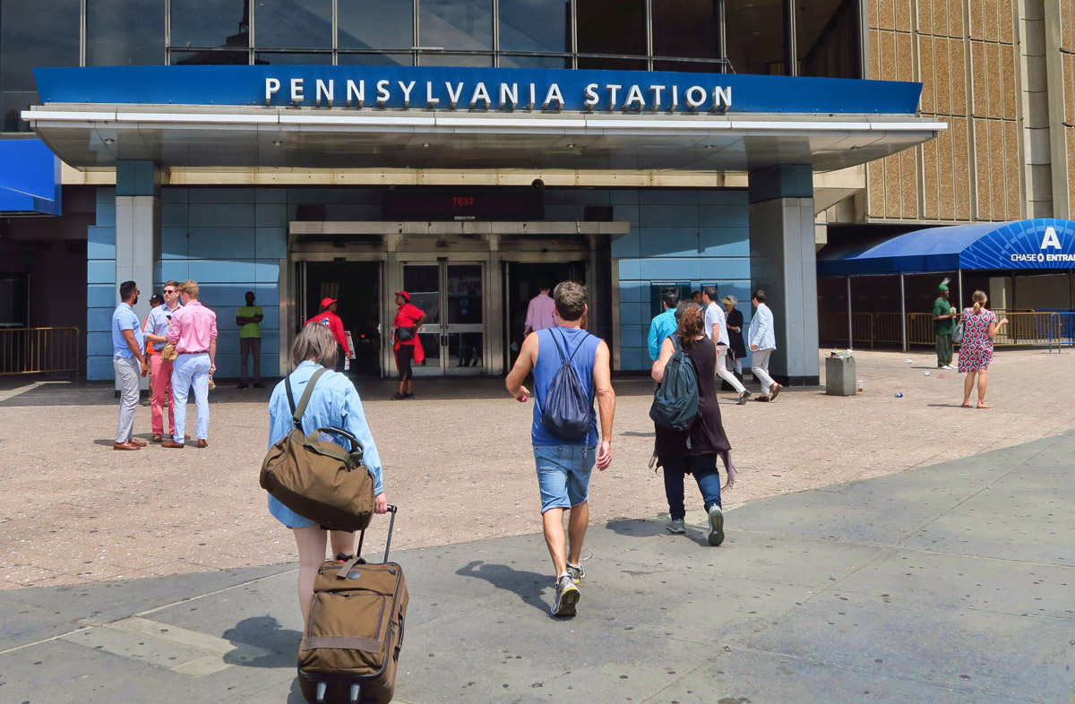 Heading for Amtrak's Acela train from Penn Station to D.C.