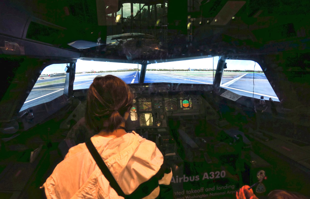 Piloting an Airbus 320.