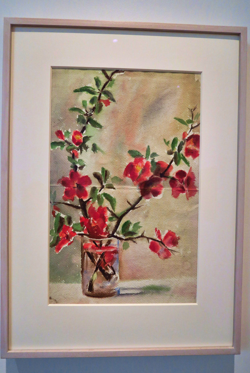 Her earlier works, like this Vase of Flowers, 1905, more more traditional.