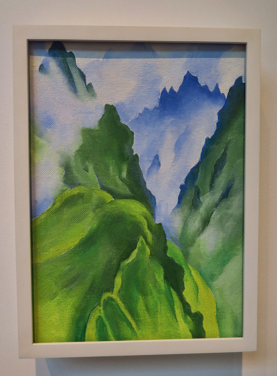 O'Keeffe's later works reflected on her world travels, this one Machu Picchu.