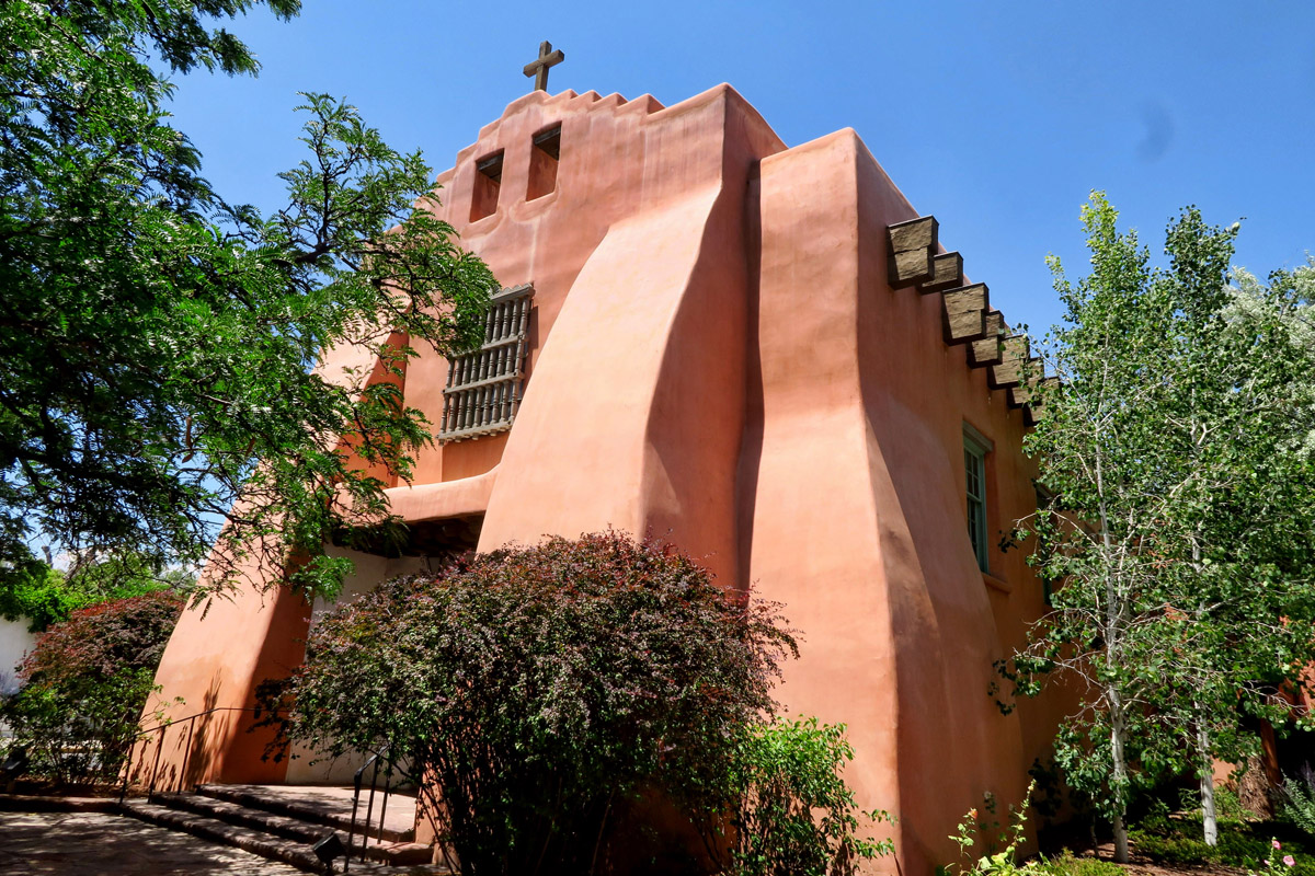 First Presbyterian Church of Santa Fe, founded 150 years ago.