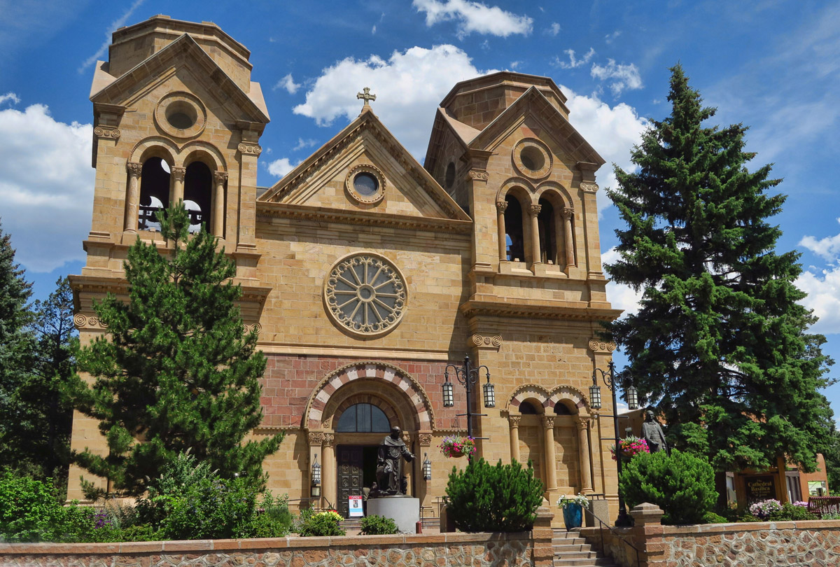 Cathedral Basilica of St. Francis of Assisi. Though original church was founded in 1714, the current structure was built between 1869 and 1887.